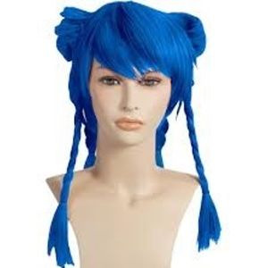 Blue Anime Cosplay Adult Wig (One Size)
